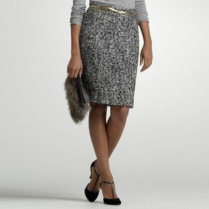 J. Crew Alpaca and Wool Gray Pencil Skirt